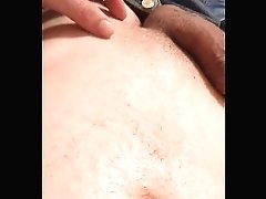 Cumload All Over My Naked Transgirl Belly