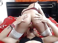 Asian T-girl Sucking Another One Fuck-stick