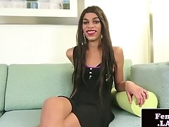 Black Femboy Masturbating In Closeup