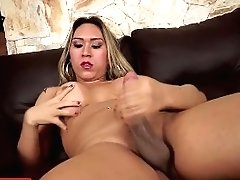 Solo Tgirl Pulling Boner Arse Up Face Down