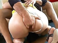 Charles Dera Gets Seduced Into Fucking By Brown-haired Sarah Shevon With Round Butt And Clean Snatch