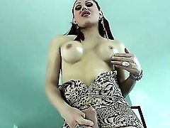 Very Attractive Redhead She-masculine Selina Malone With The Appetizing Melons And Rump Flashes Her Big