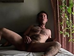 Ftm Strokes Sausage And Fucks Himself With Fake Penis