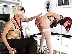 This Is An Sensational Act With Incredible Shemales Blonde Danni Daniels And Asian Redhead Eva