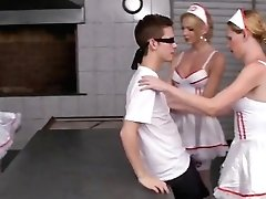 Six Horny Tranny Nurses Group Bang Patient
