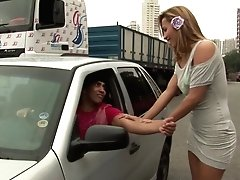 Tranny Honey Gets Picked Up For Some Afternoon Delight