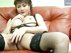 Krystal Shows Her Big Asian Tranny Butt