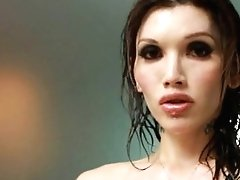 Hot Tranny Eva Lin Plays In The Bath!