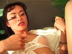 Adorable Asian Tranny With Nice Tits And High High-heeled Shoes Gets Fucked In Her Culo