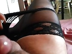 Spunk In Stockings And Wifey's Undies