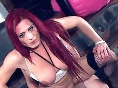Huge-boobed Redhead Shemale Triami Gets Fucked Buttfuck
