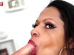 Letsdoeit - Perverted Dark Haired Tranny Bum Drilled By Two Hot Youthful Students
