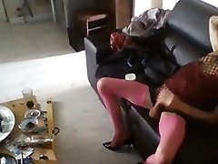 Sisssy Bitch In Pink Fishnet Fucked Good By Fuck Stick